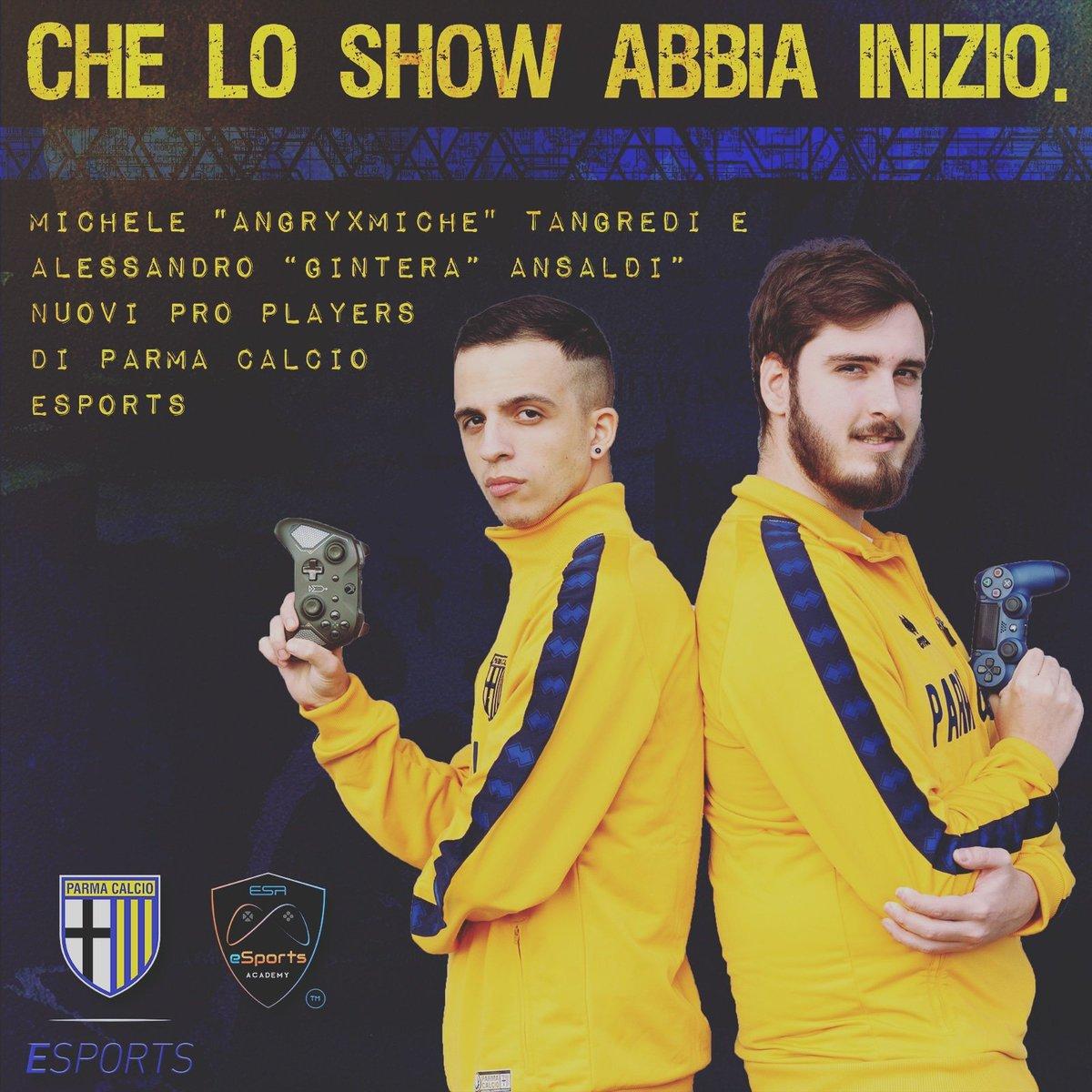 Sono fiero di annunciarvi che insieme a @gintera96  sarò il nuovo player del Parma Calcio e lo rappresenterò nell'imminente mondiale per e-Club