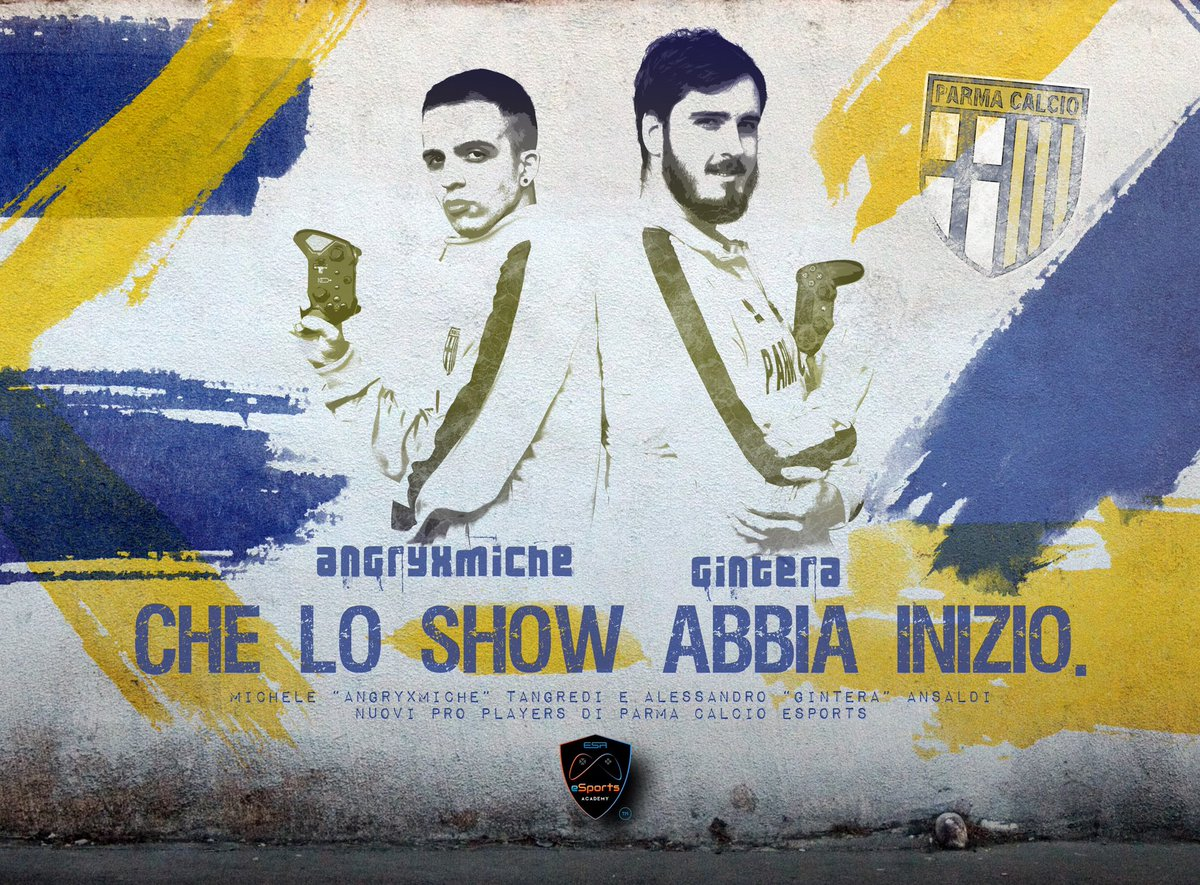 Saranno Alessandro @gintera96 e @Miche_Tangredi i due player ufficiali del @1913parmacalcio che rappresenteranno il club crociato nella imminente Fifa E-Club World Cup il Mondiale per club organizzato dalla fifa e dedicato alle squadre e-sports al quale parteciperà anche il Parma