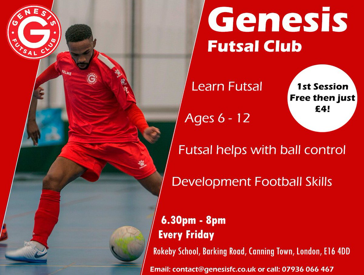 Our Futsal sessions start next week. DM or email contact genesisfc.co. eb9fdc9ae1307