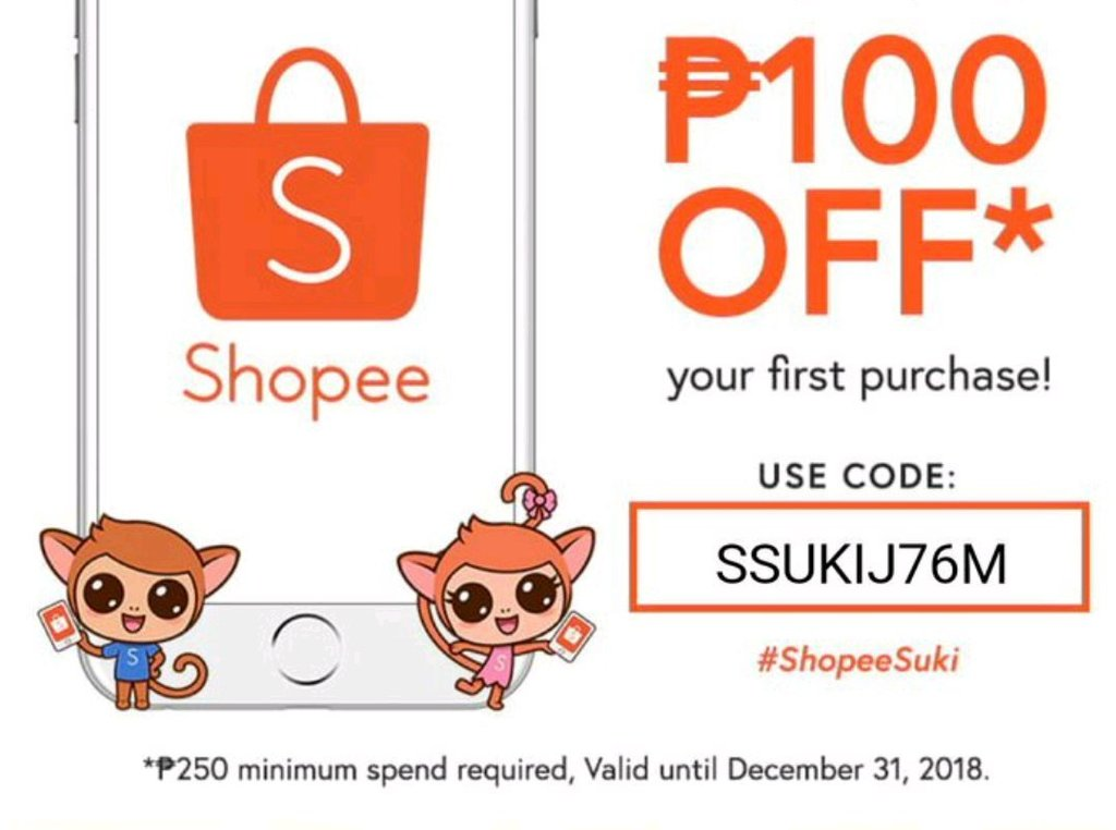 Shopee Promo On Twitter Get 100 Off Discount On Your First Purchase Use The Promo Code Ssukij76m To Avail This Offer Hurry Up Before It S Too Late Order Now Https T Co Gwzrcpuykm