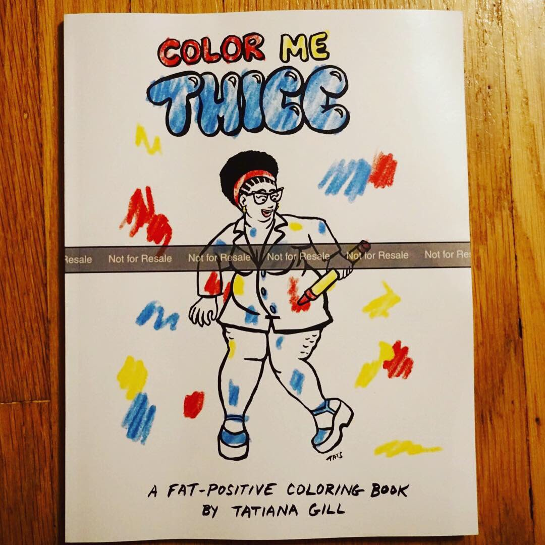 Tatiana Gill On Twitter My Fatpositive Coloring Book