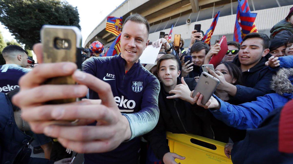 📸 😜 @mterstegen1  ➕ Barça fans  🔵🔴 #MesQueUnClub