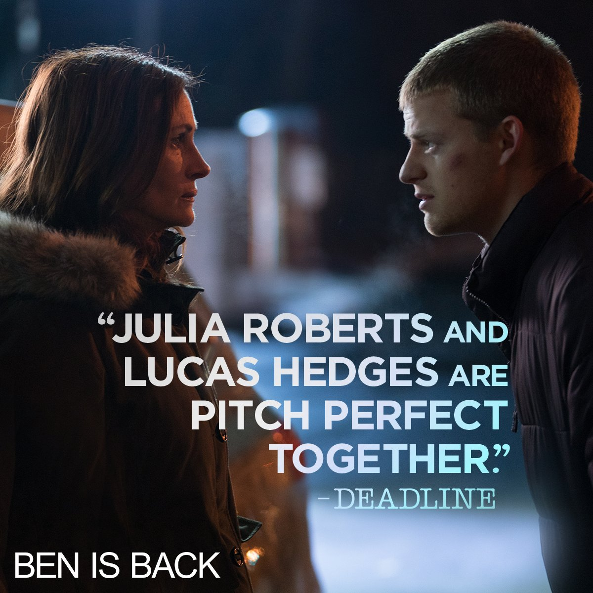 #JuliaRoberts and #LucasHedges star in #BenIsBack. Now playing. Get tickets: http://bit.ly/BenIsBackTickets…