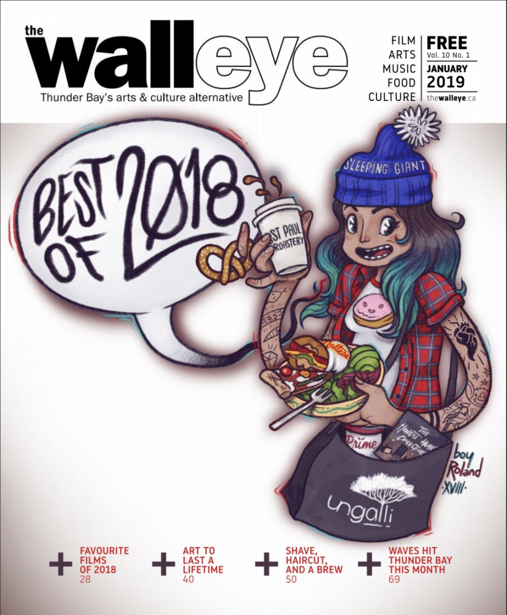 We're excited to be voted Thunder Bay's best public art gallery for the 2nd year in a row, by the people of Thunder Bay in @thewalleye Best of 2018. We are proud to bring world-class visual art to our community for all to enjoy. Thank you,  Thunder Bay. http://www.thewalleye.ca/january-2019/