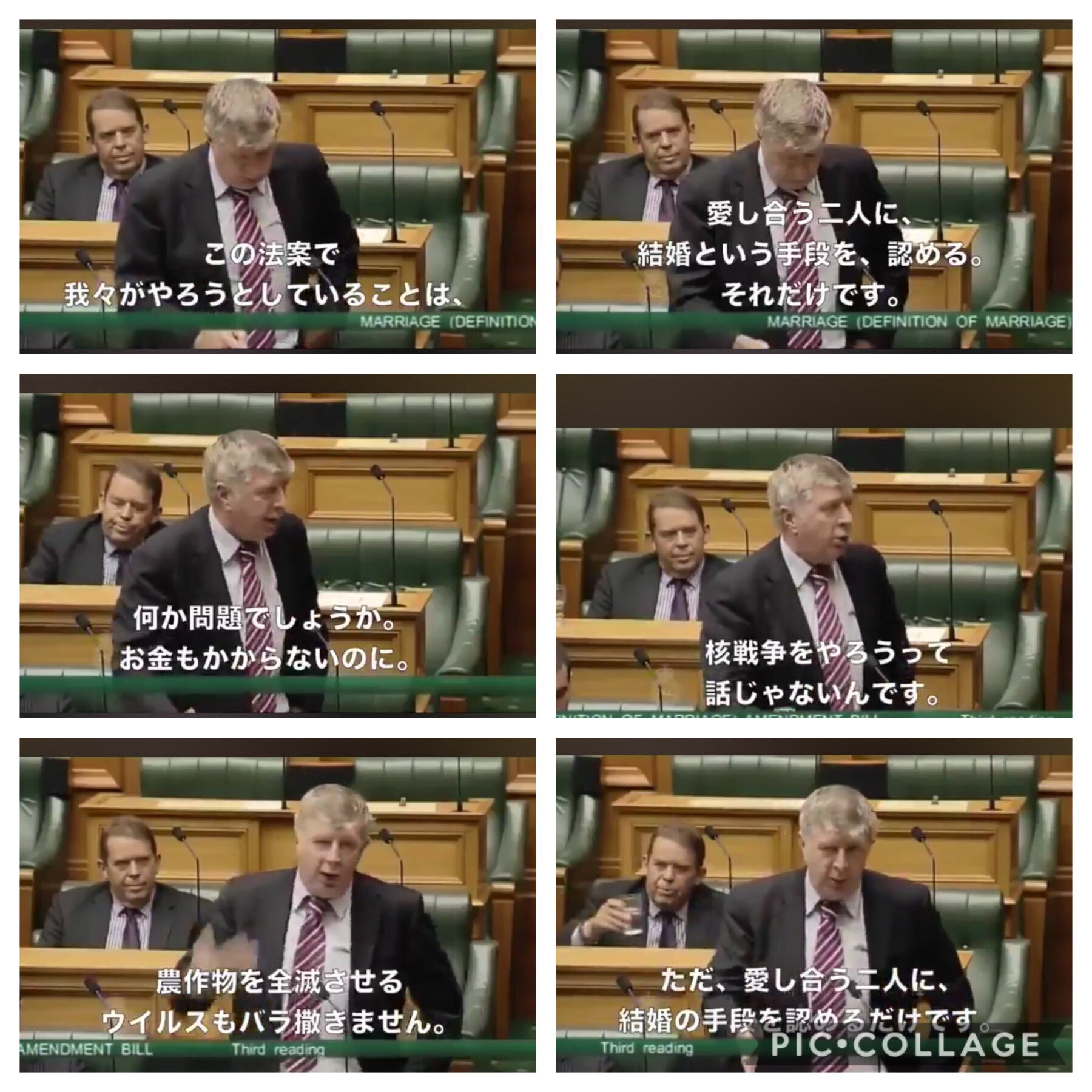 2013年にニュージーランドで同性婚を認める法案の成立に一役買ったおっさん議員のスピーチと、我が国の某おっさん議員の発言のこの差よ。