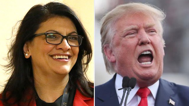 "Trump: Rashida Tlaib ""dishonored"" the country with ""impeach the motherf-cker"" remark http://hill.cm/ecse9A8"