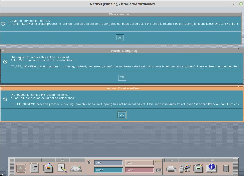 CDE - Common Desktop Environment / Wiki / NetBSD