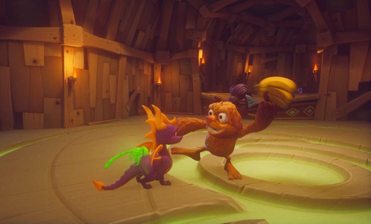 Niamh Pe Twitter Spyro Reignited Trilogy 2018 Spyro The Dragon The Treetops Realm Within The Beast Makers Home World Features An Enemy Type Named Banana Boys That Throw Whole Bunches Of Bananas I got to play spyro reignited trilogy and whilst it does feel a little different, people will not be disappointed! spyro reignited trilogy