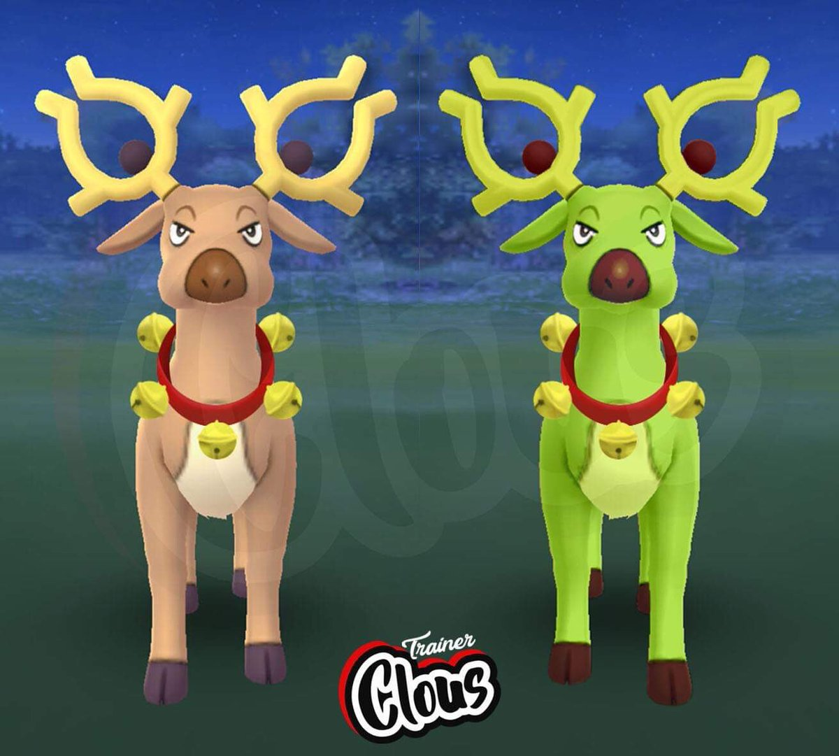 Pokemon Go Christmas Event 2019.Clous On Twitter Guys Who Think Of Stantler Is It Too
