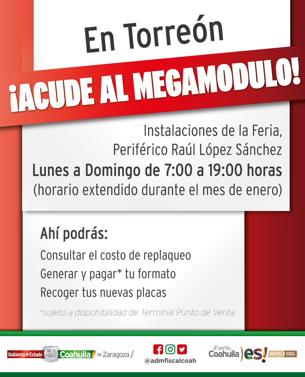 Administración Fiscal De Coahuila On Twitter En Torreón