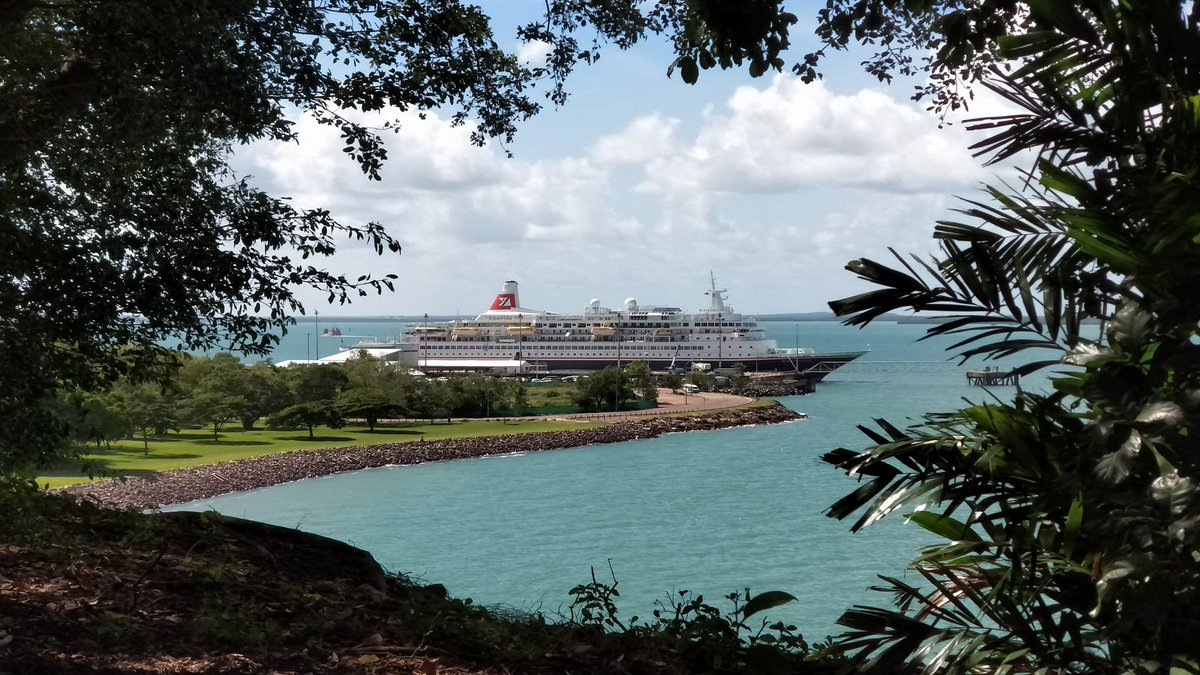 MS #BlackWatch at berth in #DarwinHarbour, March 2018