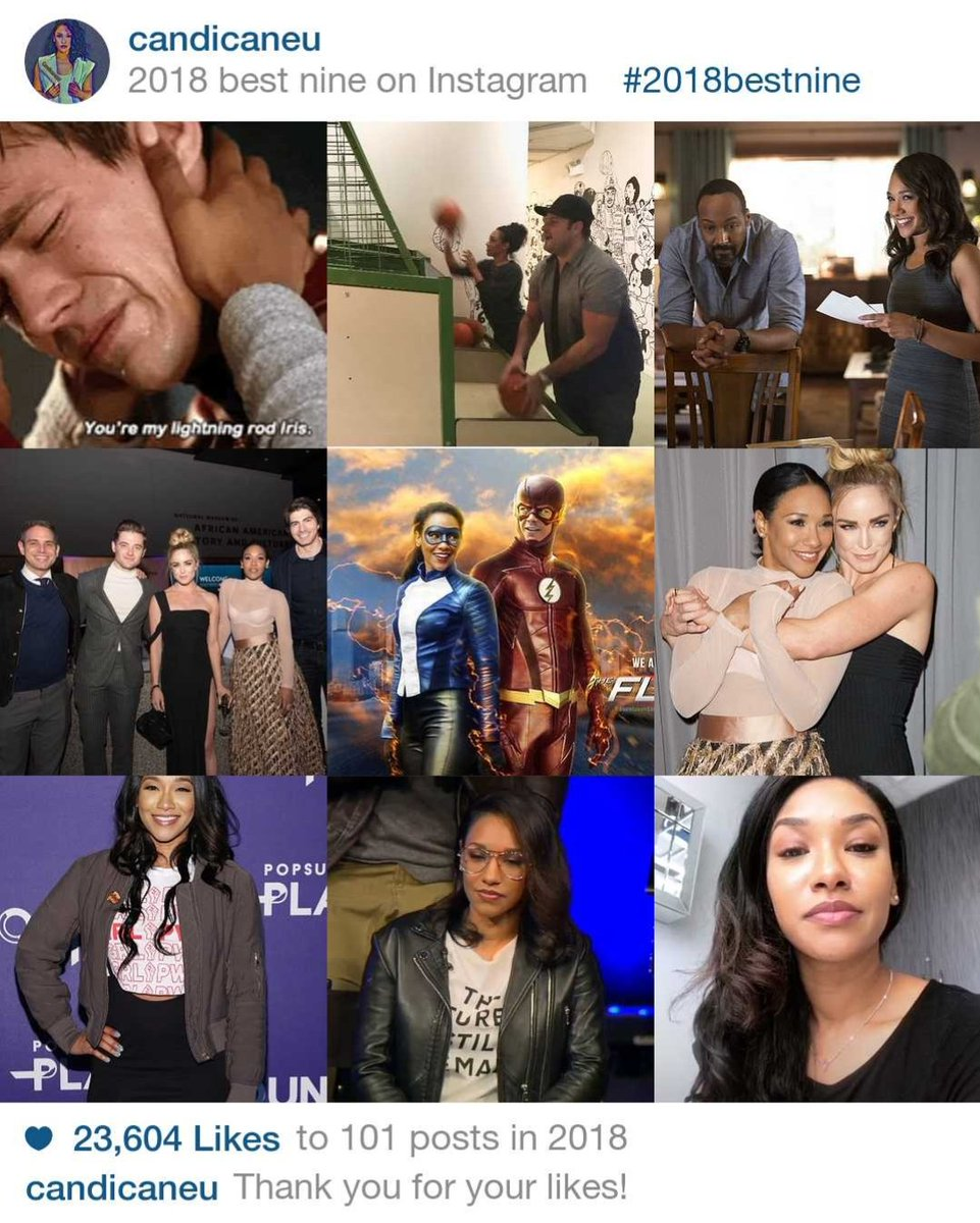 #2018bestnine!  Here's to a super-successful 2019 as Iris West-Allen, Co-creator of women empowerment org @shethority, @innocence Ambassador, advocate for diversity+inclusion in TV/Film & in new projects!  Wishing @candicepatton a GREAT 2019  #CandicanesLoveCandice #TheFlashpic.twitter.com/amEIBzKwIU