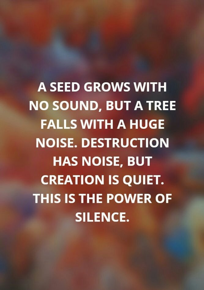Inspirational Quotes On Twitter A Seed Grows With No Sound But A