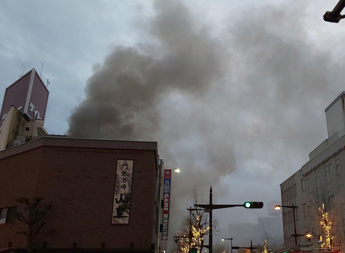 長野市南長野南石堂町で火事の現場画像