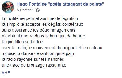Hugo Fontaine Poète Attaquant De Pointe On Twitter Poème