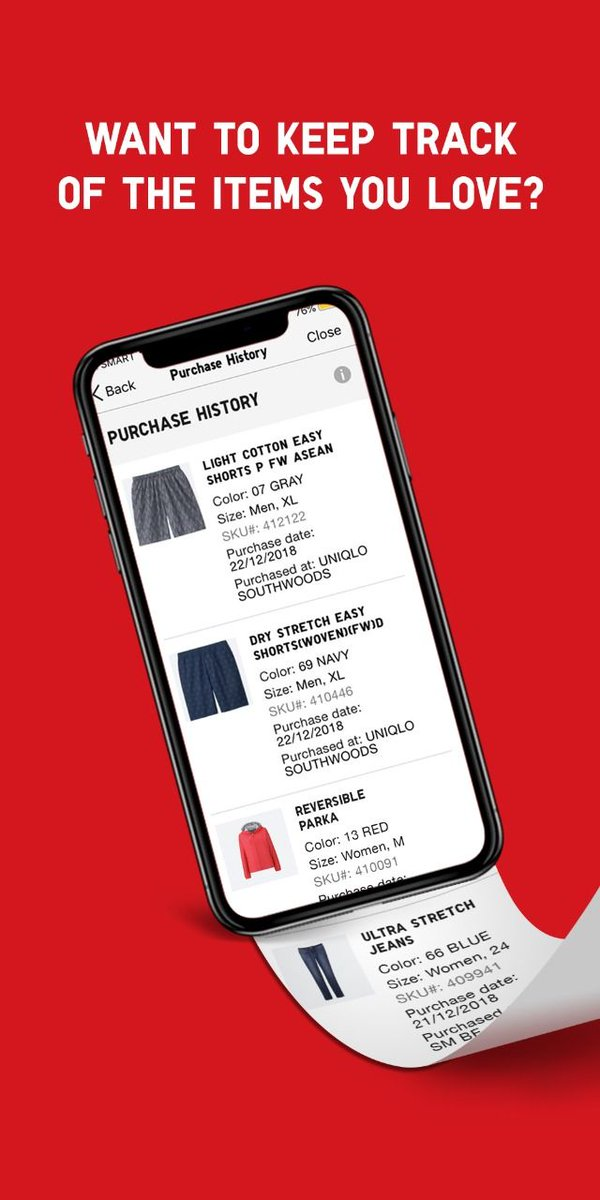 Uniqlo Philippines On Twitter Track All Your Purchases With The Uniqlo App S Purchase History Feature Look Through The Items You Love And The Sizes You Get So You Can Make Future Shopping