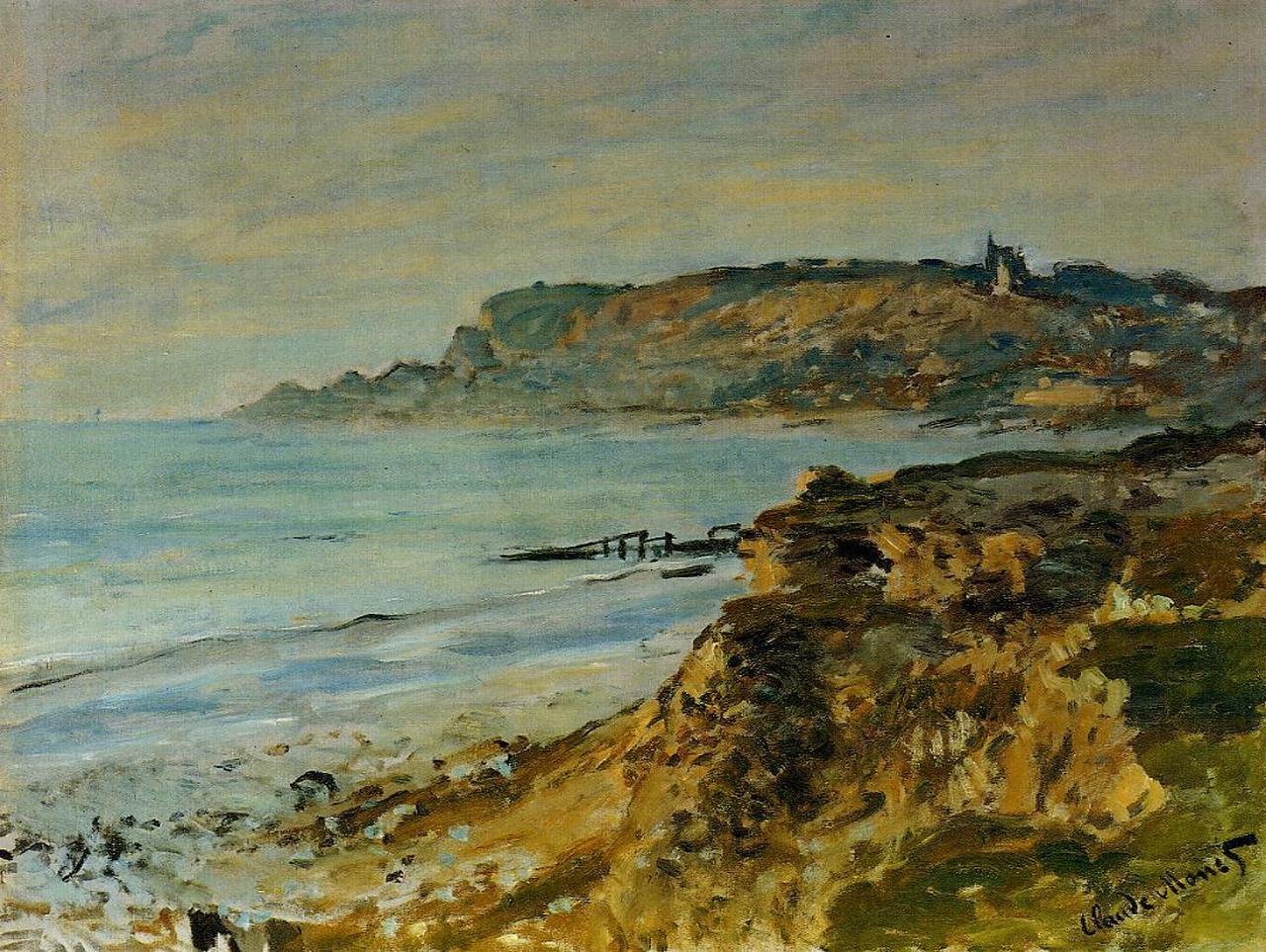 "Claude Monet on Twitter: ""Cliff at Sainte-Adresse, 1873 #claudemonet  #impressionism… """