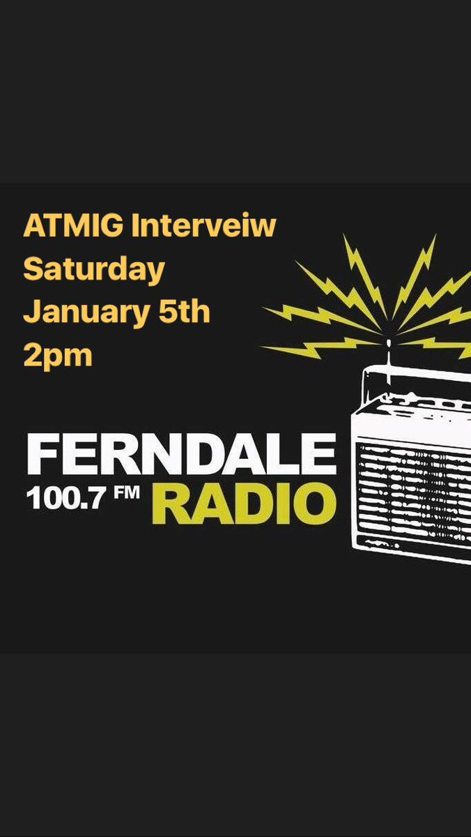 Tune in today at 2pm EST to @FerndaleRadio to hear us perform some songs and talk about our new album Wishes.