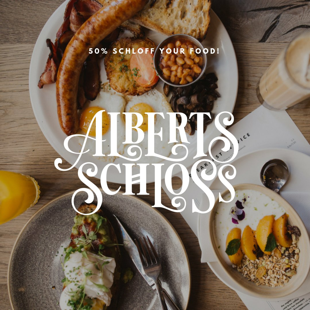 5 0 %  S C H L O F F  F O O D As a special thank you to all our wonderful guests, we invite you to indulge in 50% off your food bill throughout January. See our website for more details #50off #january #mcreats #albertsschloss