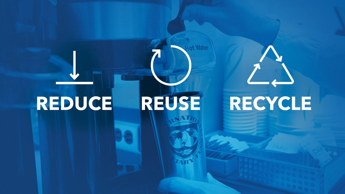 As we enter 2019, I am pleased to say that the IMF will no longer be using single-use plastic items in our offices in Washington. Committed to #ReduceReuseRecycle.