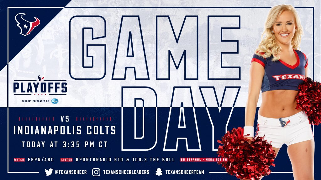 Gameday. Goin' down for real! #BeatTheColts