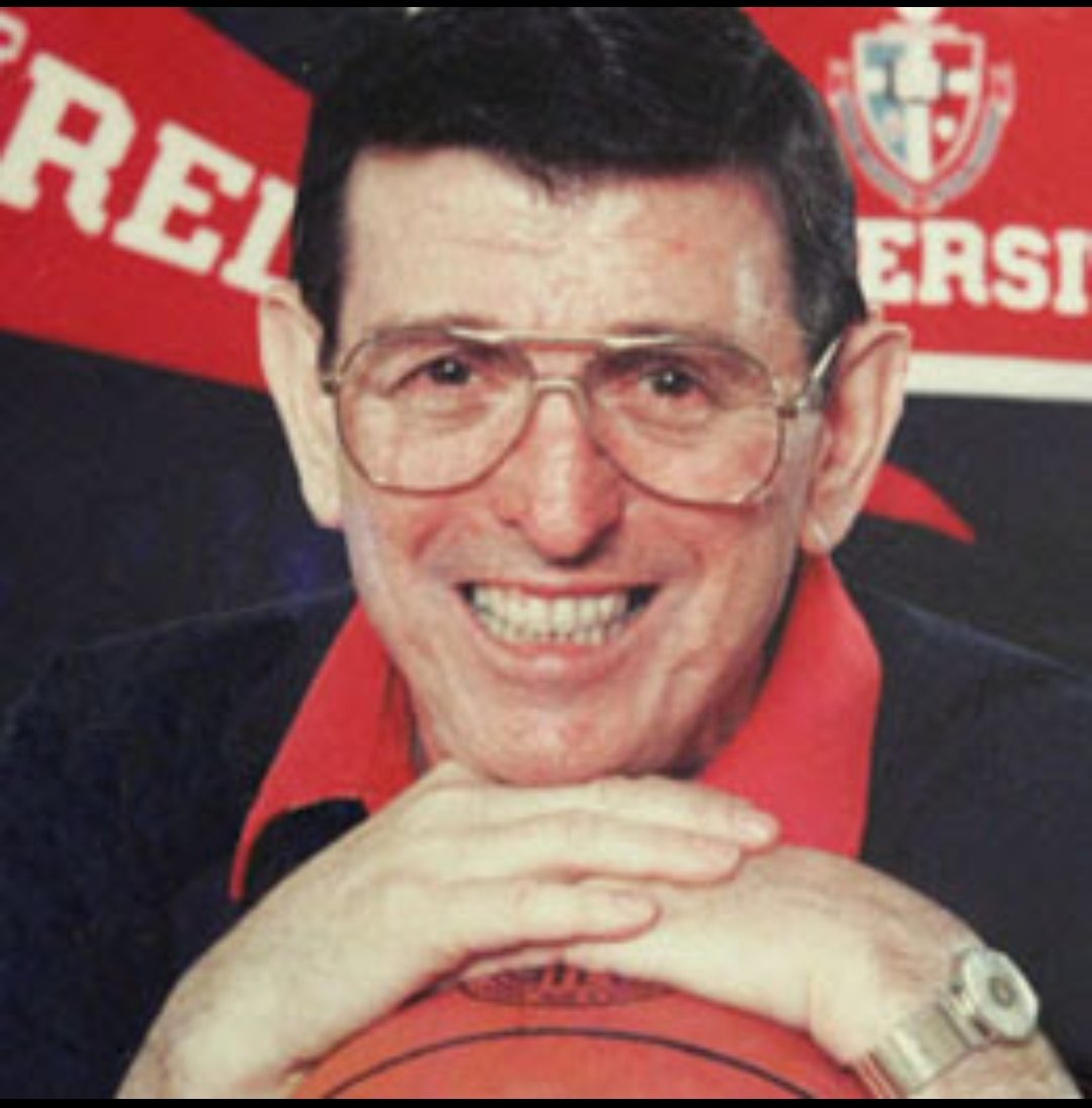 Happy Birthday to Coach Lou Carnesecca🏀🍰 Let's get you the best present with a WIN vs Georgetown today!!! #SJUBB