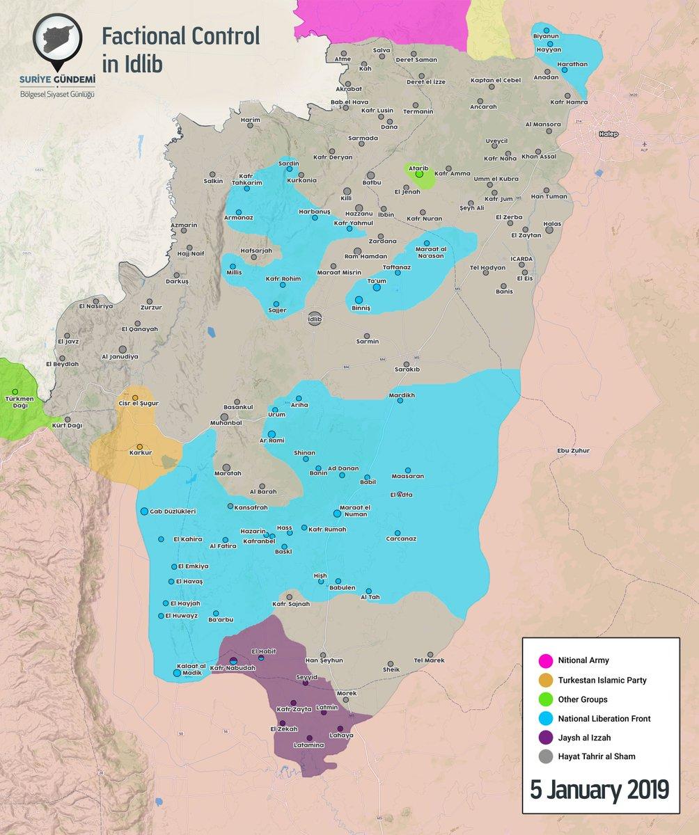 تصاعد الاشتباكات بين مسلحي المعارضة في شمال غرب سوريا DwKDmf_WkAAWc4J