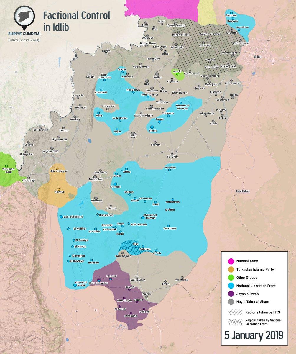 تصاعد الاشتباكات بين مسلحي المعارضة في شمال غرب سوريا DwKDnFEW0AM0vAl
