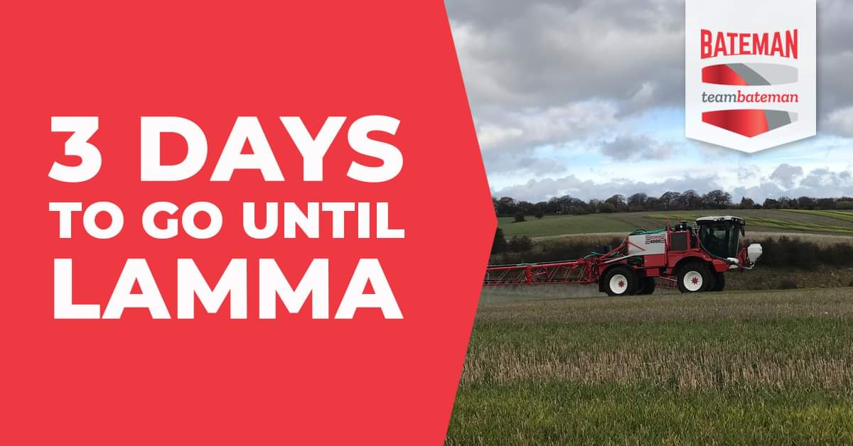 Get up close and personal with our RB35 and RB55 Crop Sprayers at @lammashow  next week - only 3 days to go!