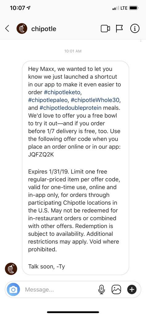 chipotle order online