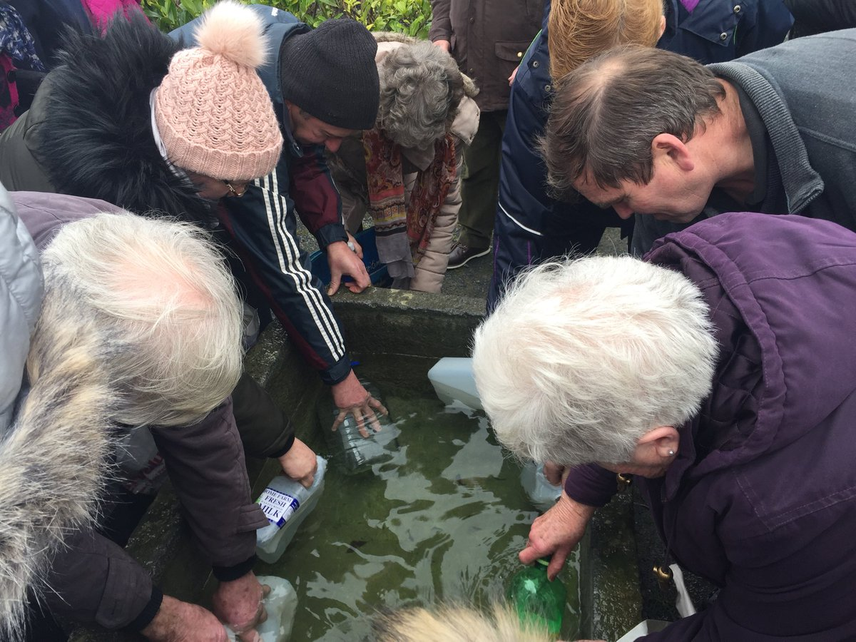 Annual farmer's pilgrimage and blessing of water in Esker, East Galway. Report @rtenews @RTEOne @6 @Sprocket_FILMS