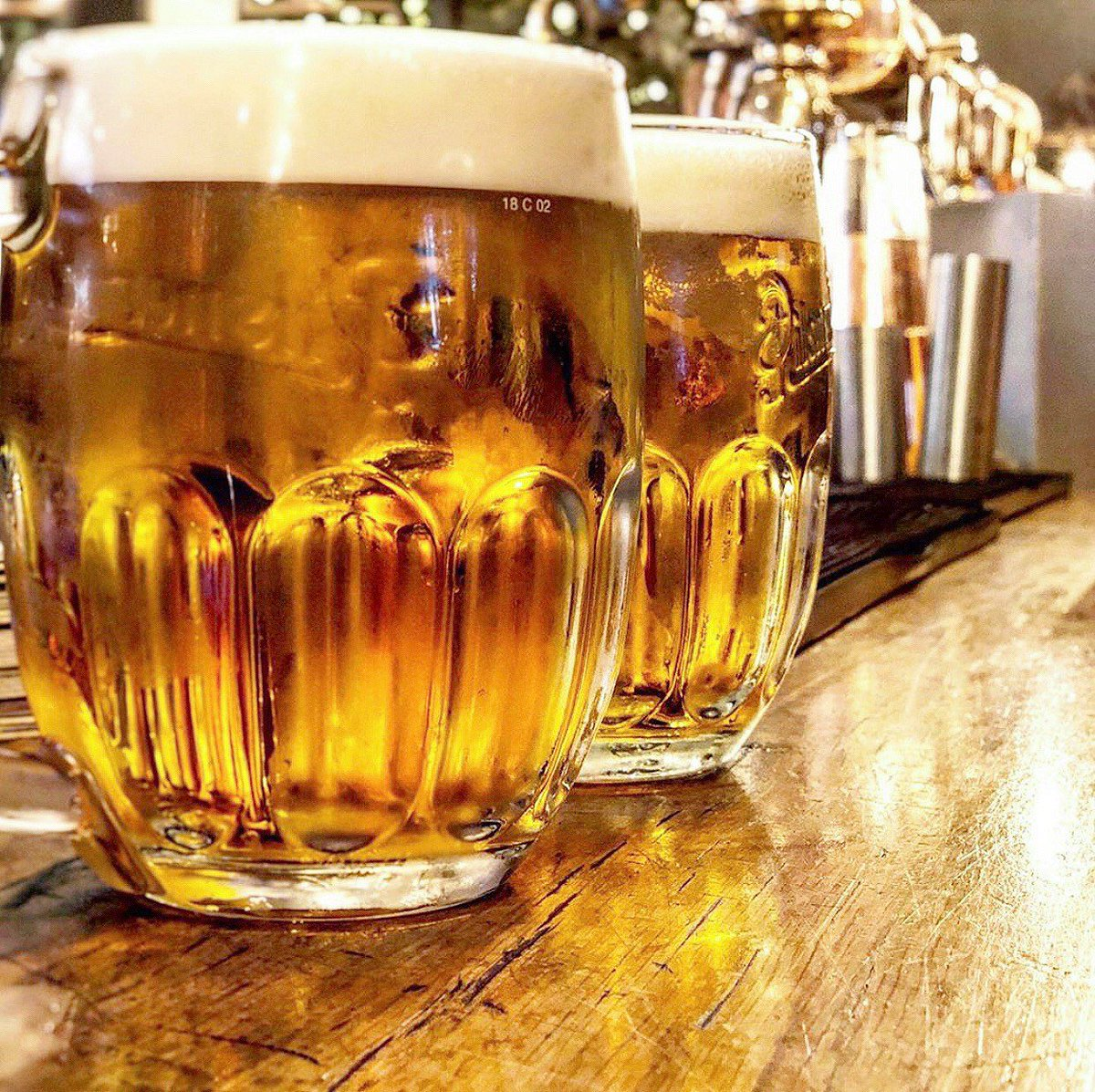 P I L S N E R  U R Q U E L L  Every week we make a 1,500-mile round trip to the Pilsner Urquell brewery in Plzeň, just outside Prague, to fill the 4 x 900 pint copper tanks that dominate our main bar area #beerpalace #pilsner #manchester #albertsschloss