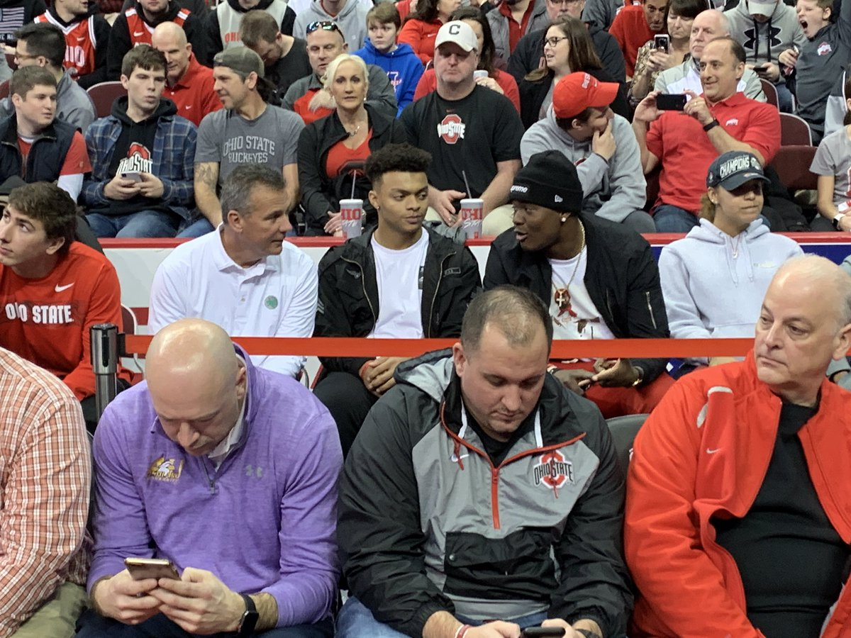 Image result for justin fields with urban meyer