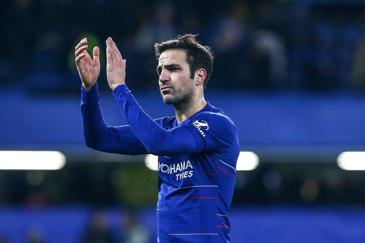 Entre lágrimas Cesc Fabregas se despidió del Chelsea