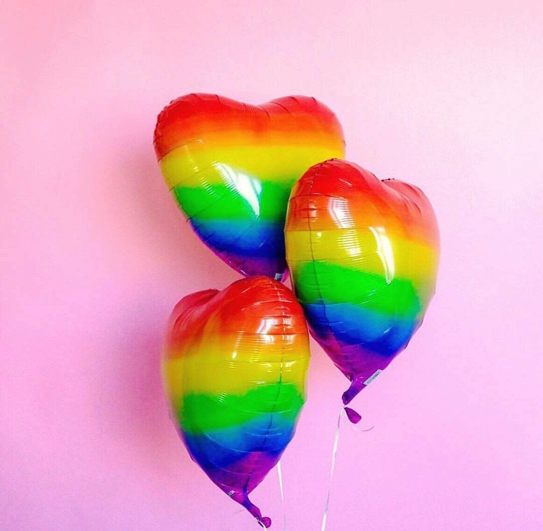 Картинки шары воздушные радуга цветы