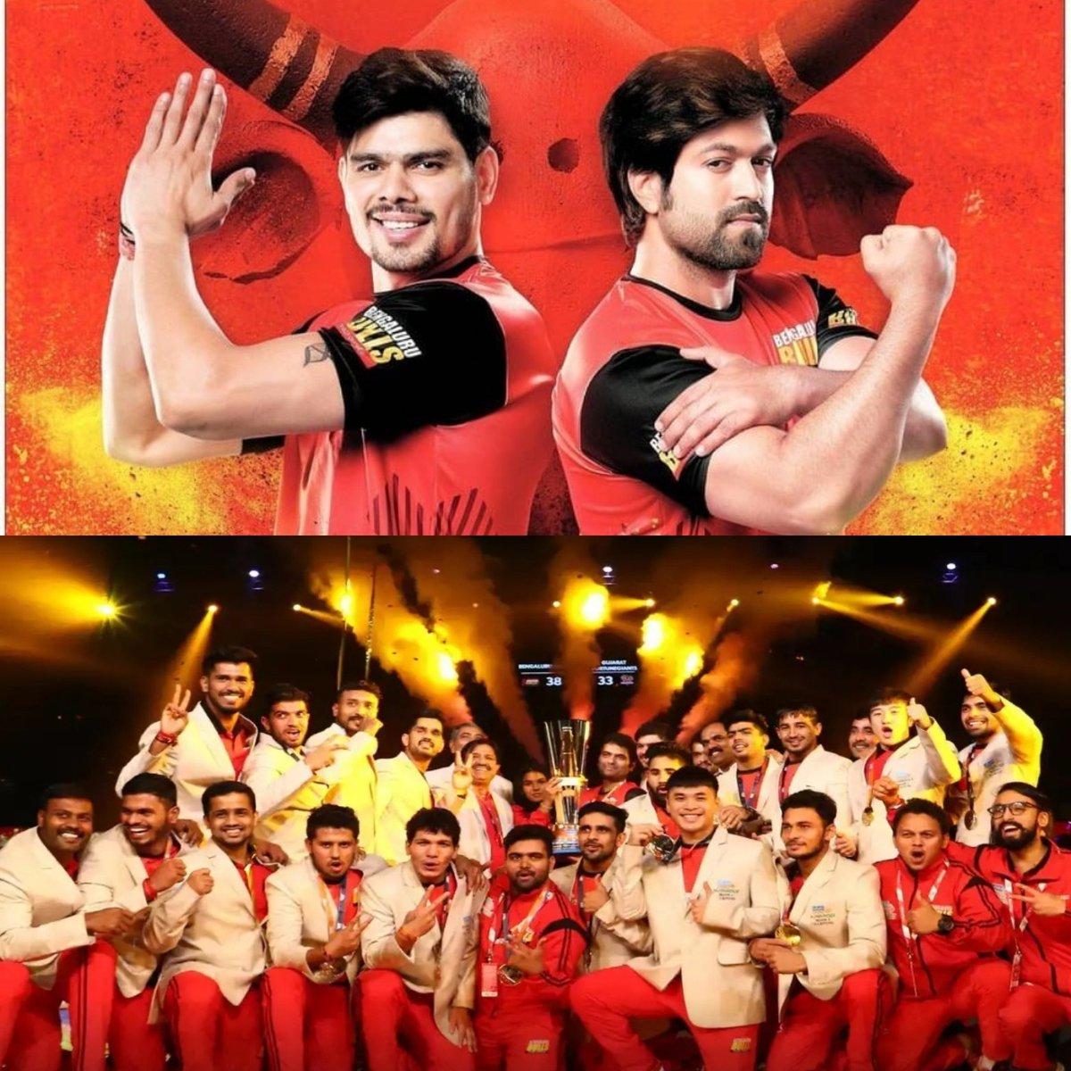 Congratulations on the incredible win @BengaluruBulls in the #ProKabaddiFinal! Very proud of namma Bengaluru Bulls Team. Special mention to Pawan Sehrawat for a great performance.  Ee salaa cup Namde 🏆😊 @ProKabaddi
