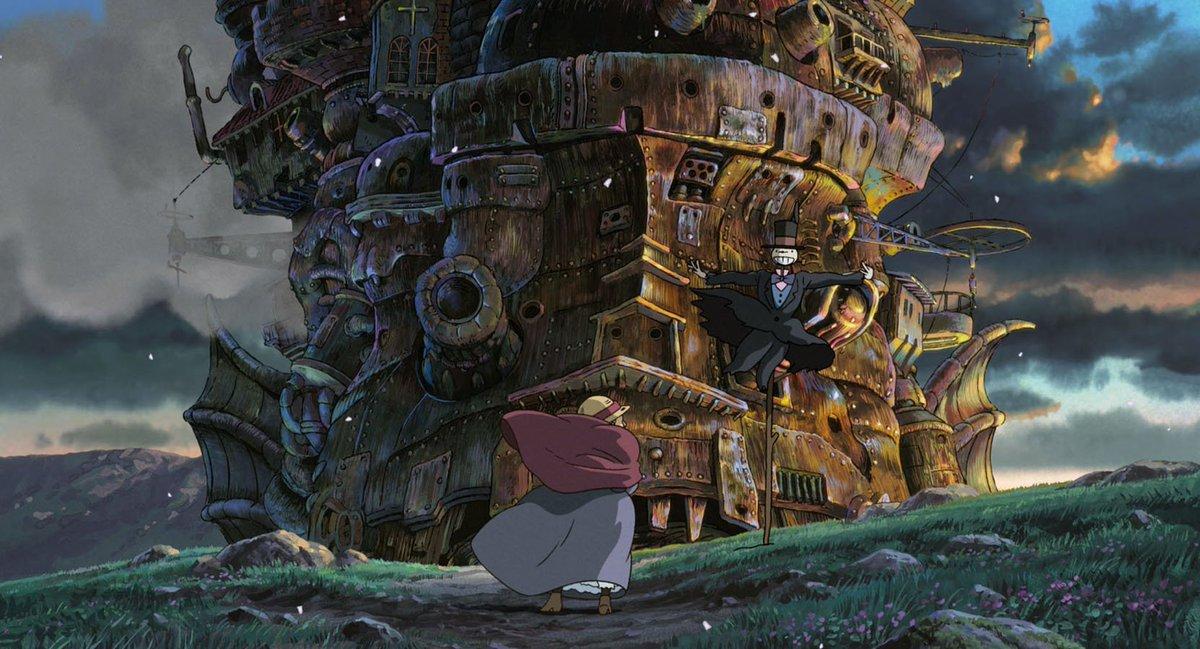 Миядзаки картинки из мультфильма ходячий замок