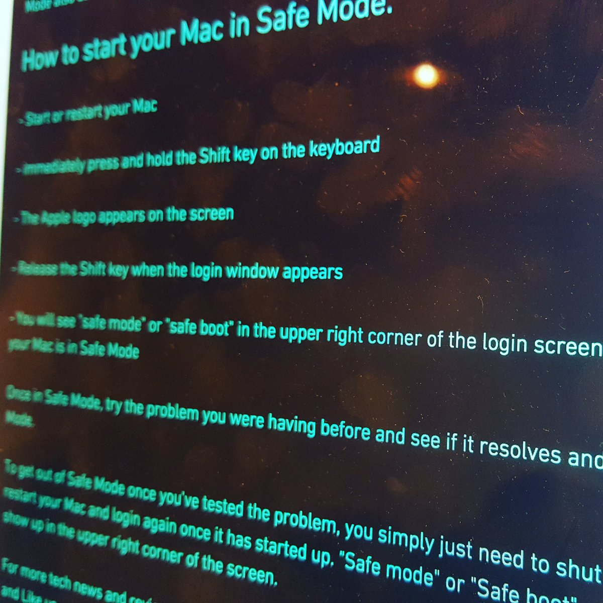 how to start in safe mode
