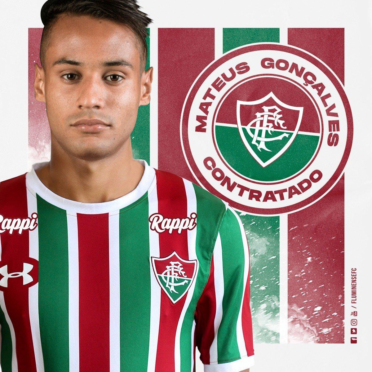 O RAIO CHEGOU! Mateus Gonçalves⚡ é oficialmente do Fluminense! Saiba mais >> https://t.co/KFMAypTFsU #VamosFluzão🇭🇺