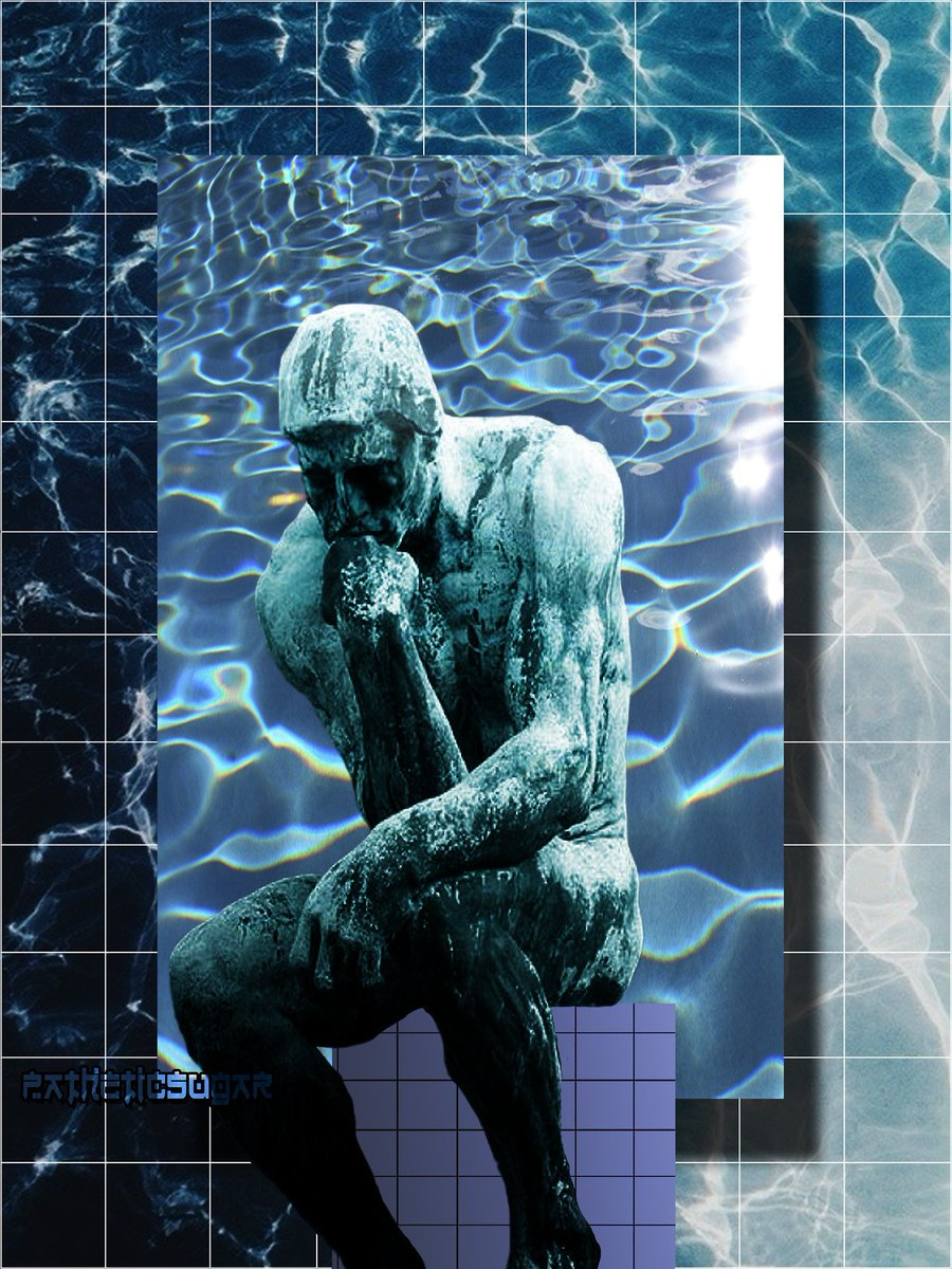 Pascalbrmz On Twitter Vaporwave Aesthetic Digitalart Adobe Creative Grid Gradient Thethinker