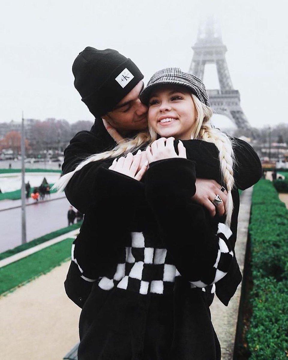 Jordyn Jones and Jordan Beau Sightseeing at the Eiffel Tower