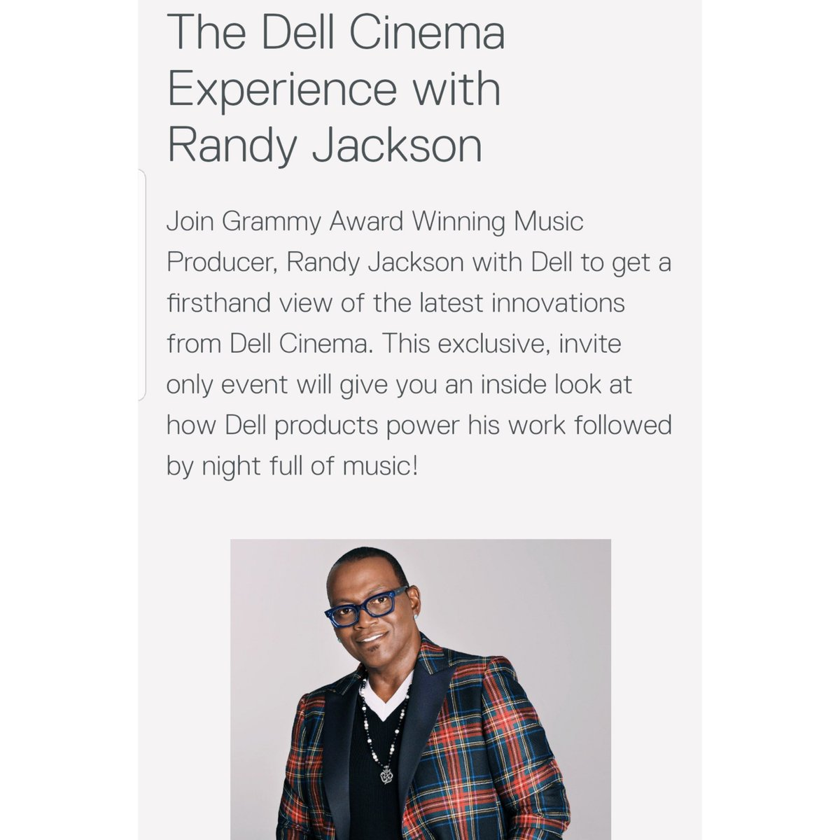 Randy Jackson On Twitter Excited To Be Joining Dell At Ces2019
