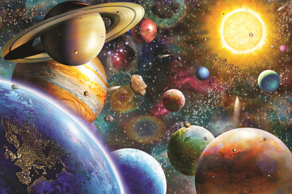 Картинки космические фантазии, открытки новым годом