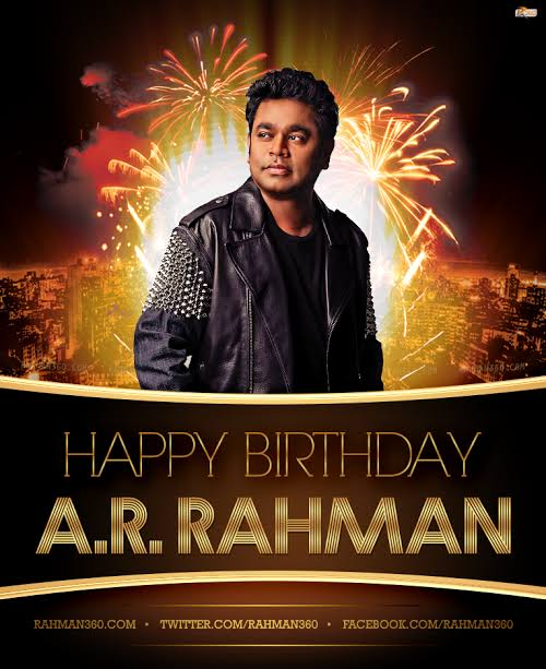 Happy birthday A.R.RAHMAN Sir you are the King of music world