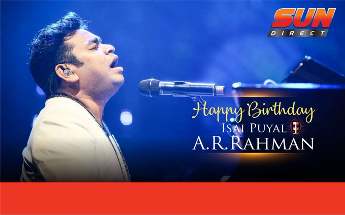 To the legend, the musical maestro. Here\s wishing A.R.Rahman,  a very Happy birthday.