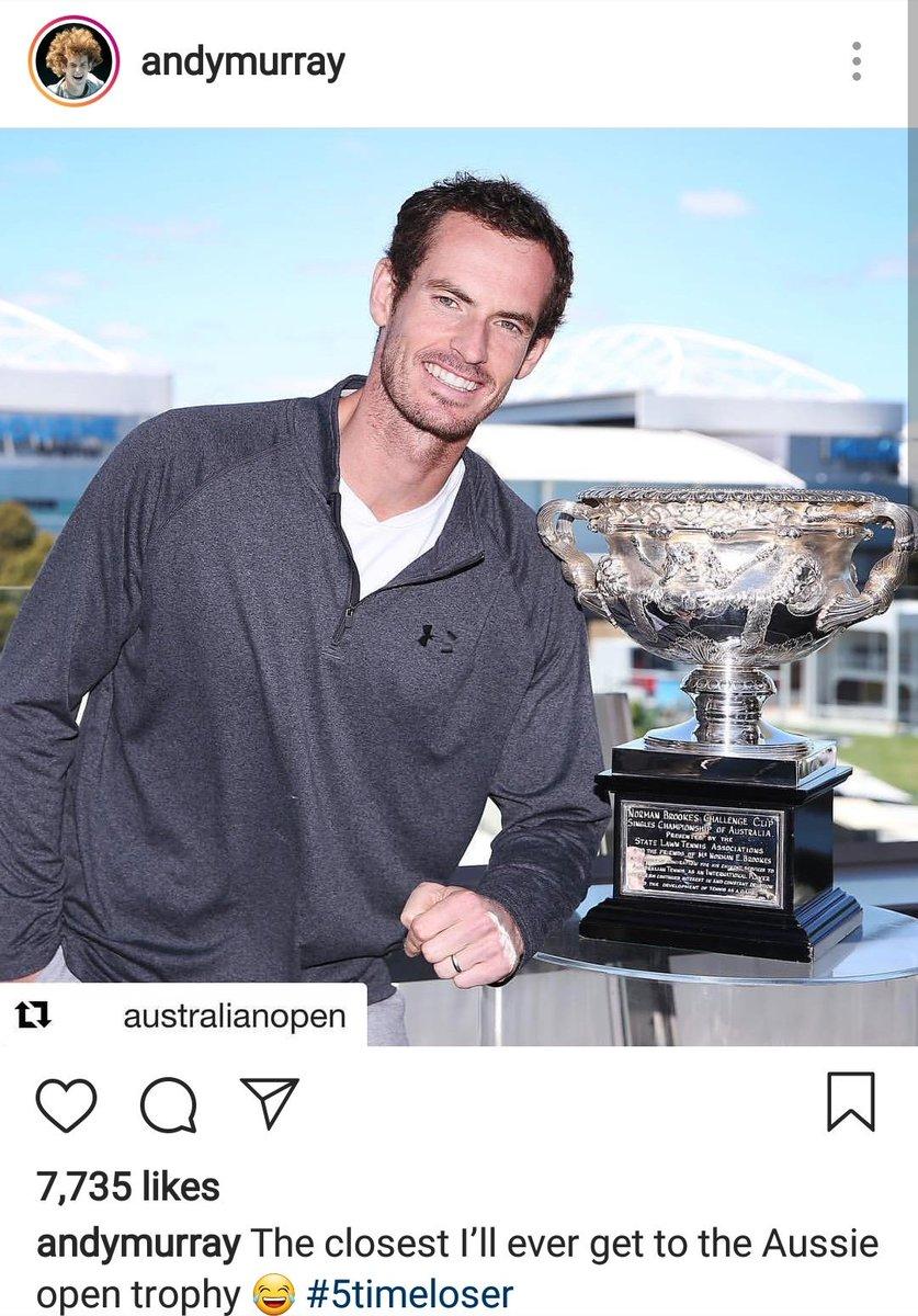 Sube imagen Murray a 'Instagram' con chanza respecto al 'Australian Open'