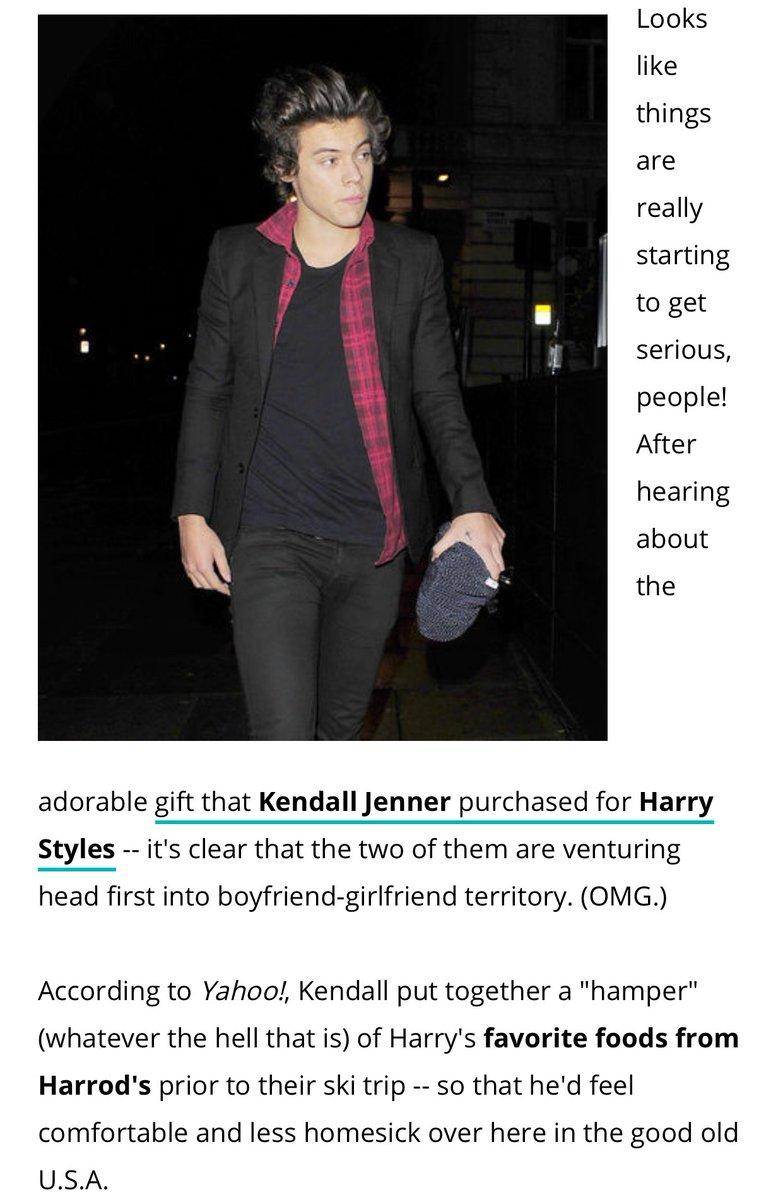 ovat Kendall ja Harry dating Yahoo