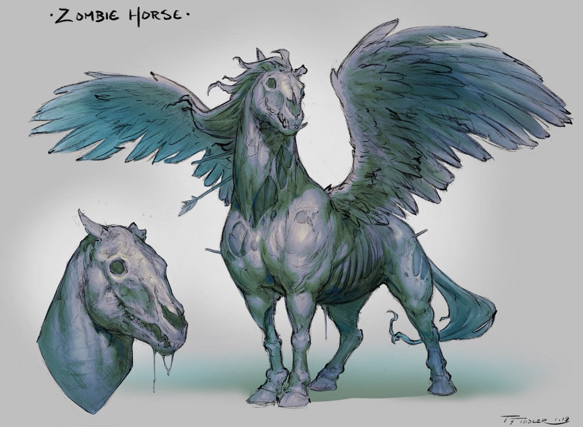 Taran Fiddler Sur Twitter Day 5 Of Creatuanary2019 The Zombie Horse Got A Little Creative A Pegasus Is Still Technically A Horse Right Magic Winged Horse Enjoy Pegasus Horse