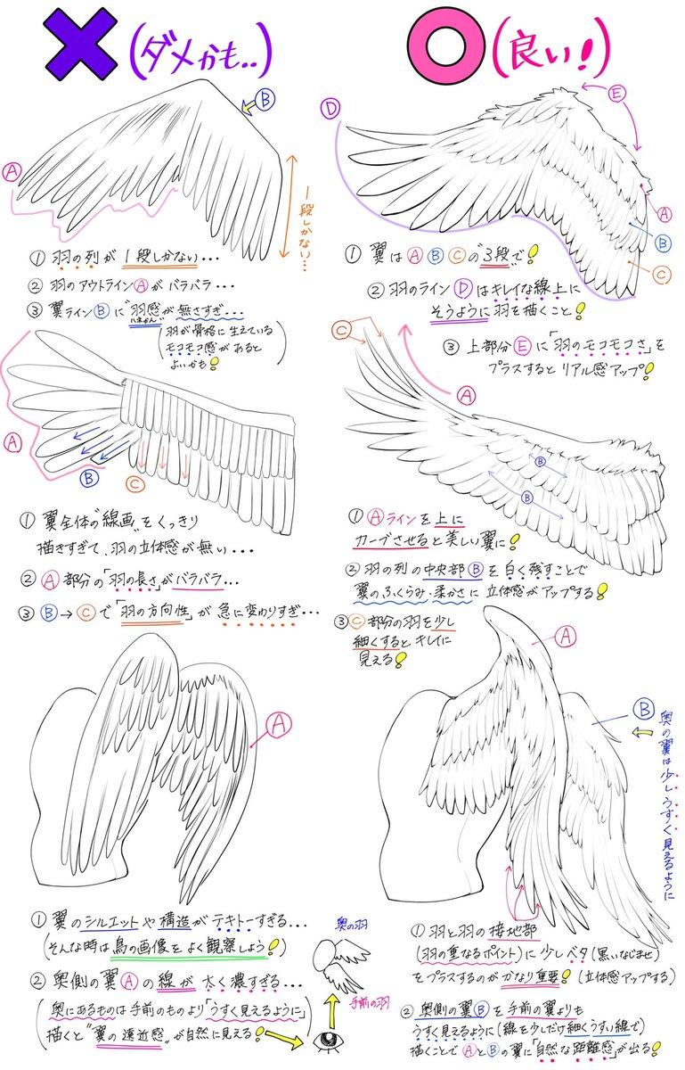 吉村拓也fanboxイラスト講座 On Twitter ツバサの描き方