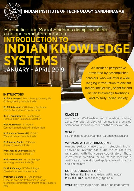Technologies of ancient India to come alive with IITGN course on  Indian Knowledge Systems